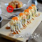 salmon cheezy roll