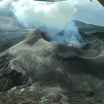 Mt Yasur from the plane