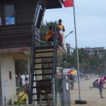 View of the lifeguards