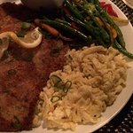 Daily special veal schnitzel with port reduction