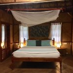 Part of the room in the ac bamboo villa