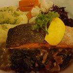 The salmon dinner