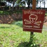 Active Danger Mine site at the War remnants museum