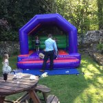 We were allowed to have our own Bouncy Castle