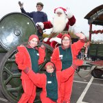 Santa and his elves arriving at Stewarts Christchurch Garden Centre