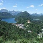アルプ湖を望む眺め