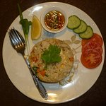 fried rice with chicken or beef or pork or prawns