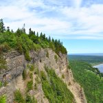 A picture from one of the lookouts on the Mont St-Alban hike