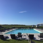 piscine avec vue sur fleuve