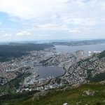 Bergen from the Ulriken cable car summit