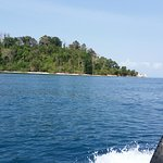 View from speed boat