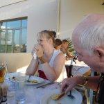 Family Meal on rearterrace