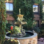 Our beautiful outdoor fountain.