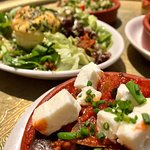Great choice of tapas - like the aubergine stew with feta!