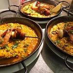 Fresh sea food paella - summer holiday in the middle of Canterbury!