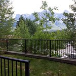 You can see the Rundle Mountains right from your own balcony.