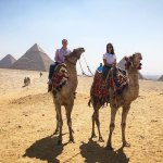 Thanks Ahmed for arranging this camel ride by the Giza Pyramids!