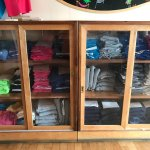 We sell T-shirts and hats.