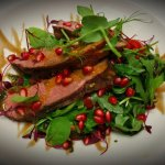 Chinese 5 Spices Duck with a Pomegranate Salad
