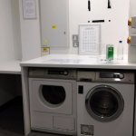 The laundry room - one washer and one dryer.