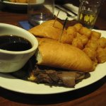 French Dip with Tater Tots