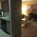View of living room / kitchen of Suite 614