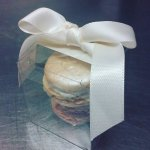 Wedding favors. Champagne macarons and Passion fruit macarons