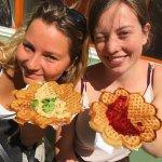 Vegan waffles on deck. Top choice!