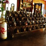 Offertory candle holder rack on bar