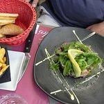 duo de tartare de poissons (thon et saumon)...