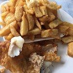 Regular chips, regular cod (shared between 2)