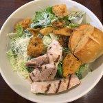 Caesar Salad with sourdough bread