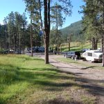 View from our campsite looking back at the campground. So pretty!