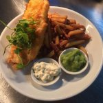 Good old fish and chips, with homemade tartare sauce