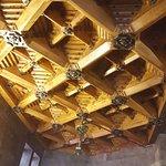 Wooden flowery ceiling