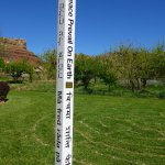 Our peace pole, with 8 languages  (including braille!) is part of the global peace pole project.
