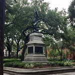 One of many historical monuments in Savannah