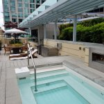 Private rooftop area - hot tub
