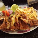 Huge fried fish and very tasty