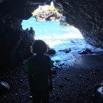 Lava tube cave.
