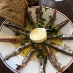 Late lunch, best starters: anchovy persillade! Super fresh and punchy