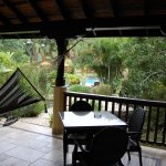 View from our Casita porch. There are birds, lizards, and wildlife surrounding the luxury rooms