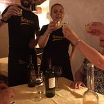 Limoncello with the staff - yum yum