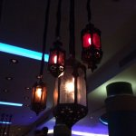 Loved the lights in the bar area