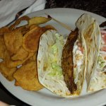 Fish (Tilapia) Tacos and chips