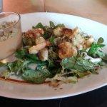Salade de grosszes crevettes