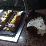 Desserts lors d'un repas terrasse du vendredi soir