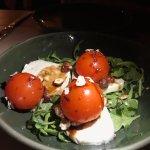 FRESH MOZZARELLA: Candied Tomato, Hazelnuts and Fried Rosemary