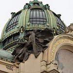 Detail of entrance to the Municipal Hall, Prague