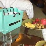 Daily fruit platter is good